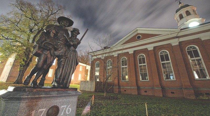 More than a decade of planning and fundraising will culminate in a special Veterans Day ceremony when the monument commemorating Loudoun's contributions during the Revolutionary War will be unveiled at the county courthouse. (Photo By Douglas Graham/Loudoun Now)
