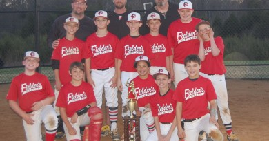 Front Row (from left) Tony Monastero, Logan Small, Teddy Childs, Tyler Klinge, Joey Fitzpatrick  Second Row-Jake Slade, Thomas Burgess, Owen Buckley, Pete Nace, Chris McCullers, Zach Merchant  Third Row-Coaches Todd Slade, Trent Small, and Jeff Brown