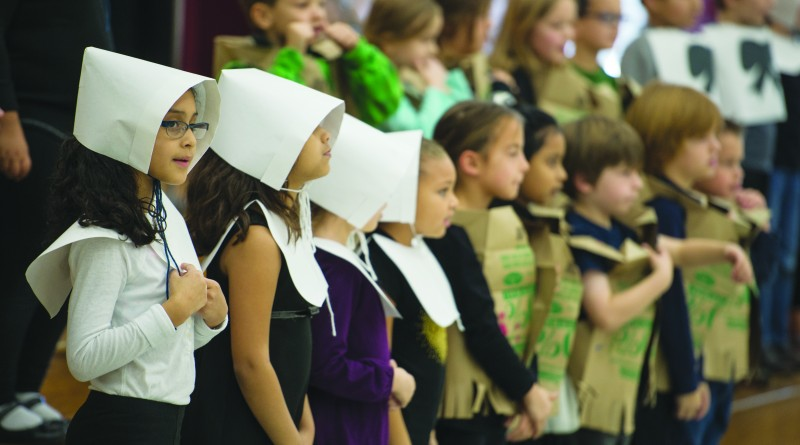 UNITED STATES - November 17, 2015 : The First Graders of Algonkian Elementary in Country Side preformed a Thanksgiving Musical on November 17, 2015.  (Photo By Douglas Graham/Loudoun Now)