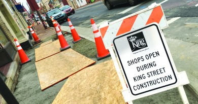 Construction is underway on the final phase of the improvements along King Street in downtown Leesburg.