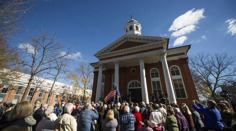 Dedication of the Revolutionary War Memorial Statue on the grounds of the Loudoun County Court House in Leesburg Virginia, November 11, 2015. (Photo By Douglas Graham/Loudoun Now)