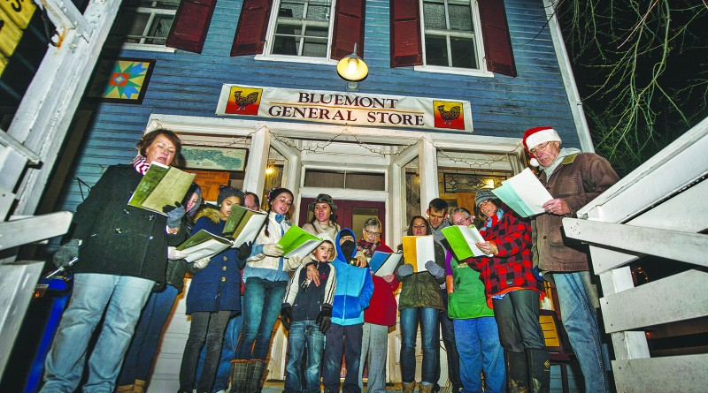 December 20, 2015: For the past twelve years citizens of Bluemont Virginia have been meeting at the Bluemont General Store on the last Sunday before Christmas to sing carols to the residents of the small mountain village. Anyone can join in and some came from as far away as Leesburg. (Photo by Douglas Graham/Loudoun Now)