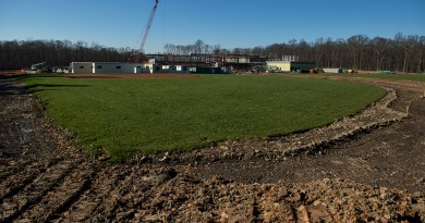Madison's Trust Elementary School is under construction near the intersection of Northstar Boulevard and Creighton Road in Brambleton. It is set to open in August 2016. (Douglas Graham/Loudoun Now)