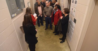 Supervisors-elect and county staff members tour the Loudoun County Juvenile Detention Center on Saturday. Renss Greene/Loudoun Now