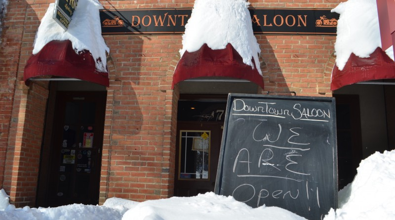 The 30-plus inches of snow wasn't enough for the Downtown Saloon, also known as Payne's Biker Bar, to close. (Danielle Nadler/Loudoun Now)