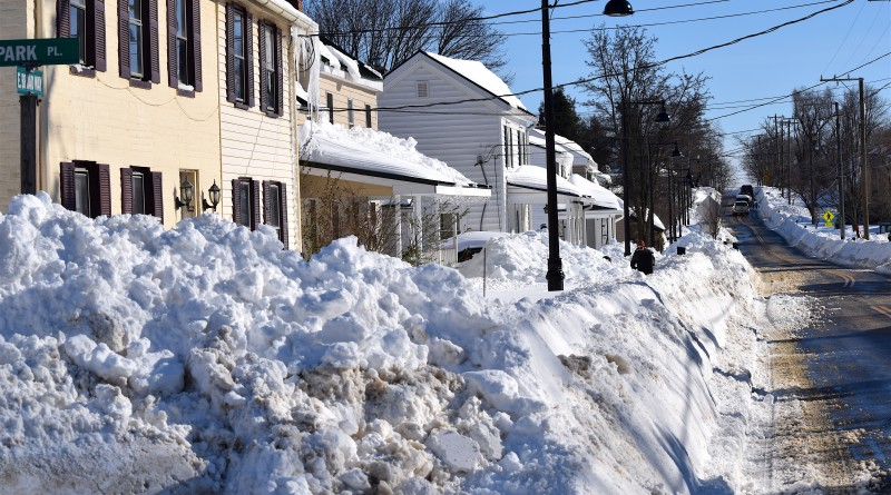 Lovettsville just completed work on the Broad Way sidewalk project. Now someone is going to have to shovel it.