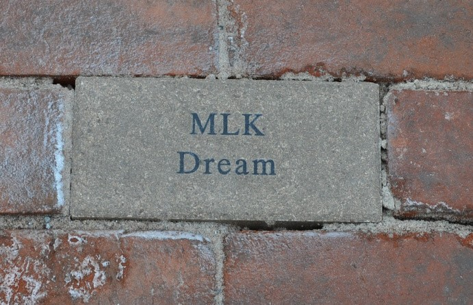 The route of the annual Martin Luther King Jr. march in Leesburg is marked with special bricks.