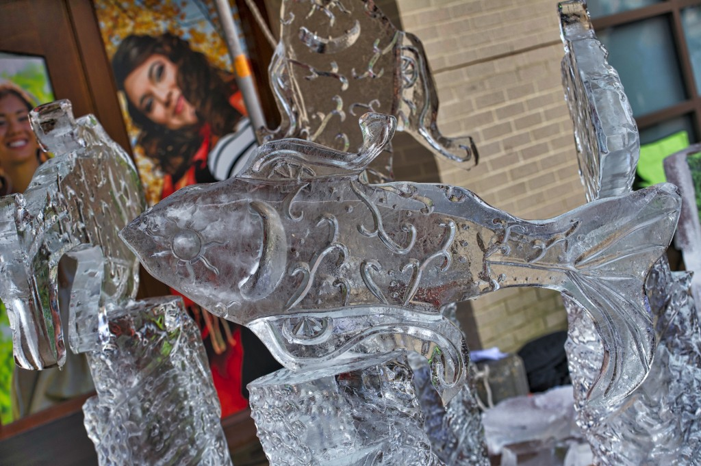 Third Annual Winter Ice Fest and Mega Block Ice Carving Competition. Ten world-class ice carvers went head to head on Jan. 16 at the Village at Leesburg. The competition has been sanctioned by the National Ice Carving Association. (Photo by Douglas Graham/Loudoun Now)