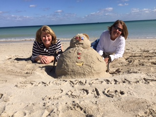 Stuck in Miami. Can't get home to Purcellville until Wednesday so we made a sandman.