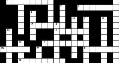 Crossword Jan. 14, 2016