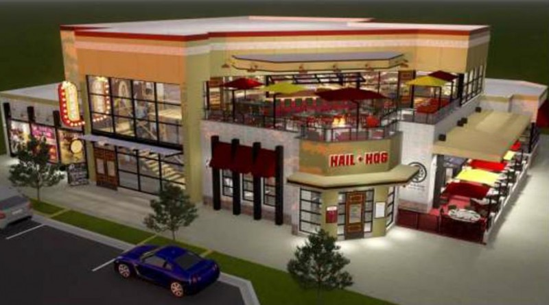 A rendering of the Hail & Hog Kitchen & Tap planned to open at One Loudoun in spring 2016.