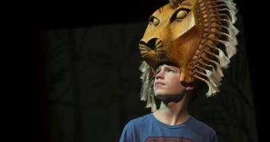"Ian Carlson, ""Simba,"" of Blue Ridge Middle School, performs during a dress rehearsal of the upcoming production of ""The Lion King Jr.""(Douglas Graham/Loudoun Now)"