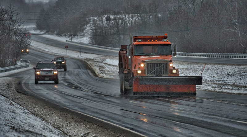 VDOT was hard at work keeping the main roads clear after a snow storm blanketed Loudoun yet again with snow and ice. This is Rt.  7 near Round Hill.  (Photo by Douglas Graham/Loudoun Now)