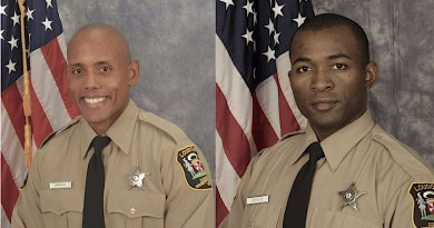 Loudoun deputies Placido Sanchez left,  and Erick Ambroise were credited with taking life-saving  action when responding to a suspected heroin overdose.