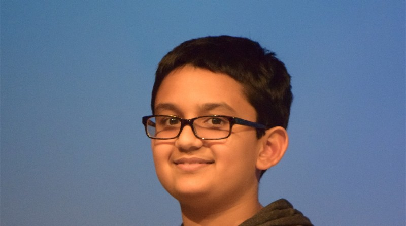 Rishubh Kaushal of Seneca Ridge Middle School is Loudoun County's 2016 spelling bee champion.