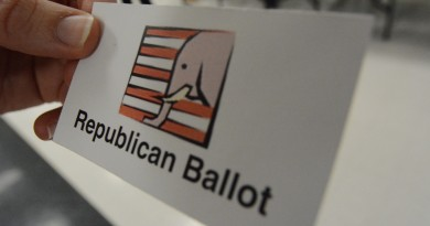 A ticket to vote in the Republican primary.  (Renss Greene/Loudoun Now)