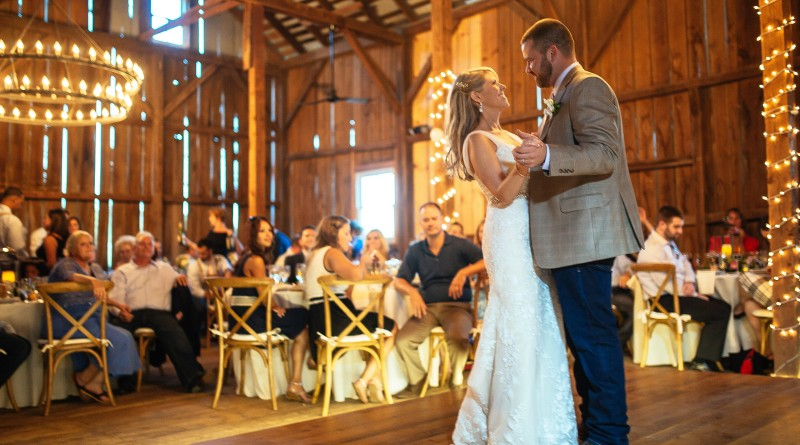 Sarah and Stephen McCain of Ashburn held their wedding at Tranquility Farm near Purcellville last September. (Photo by Carly Arnwine)