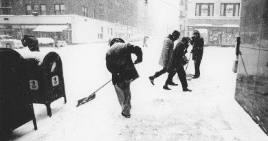 This photo was taken during a snowstorm on the Upper East Side in 1975.