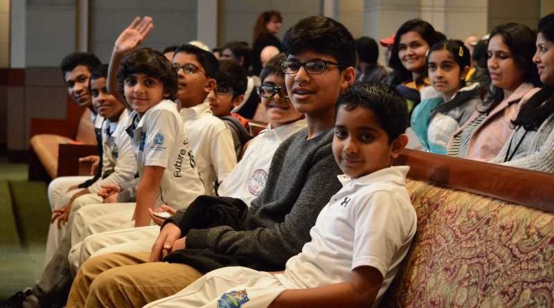Players for the Future Stars School of Cricket team wait to speak at a Board of Supervisors meeting.  Renss Greene/Loudoun Now