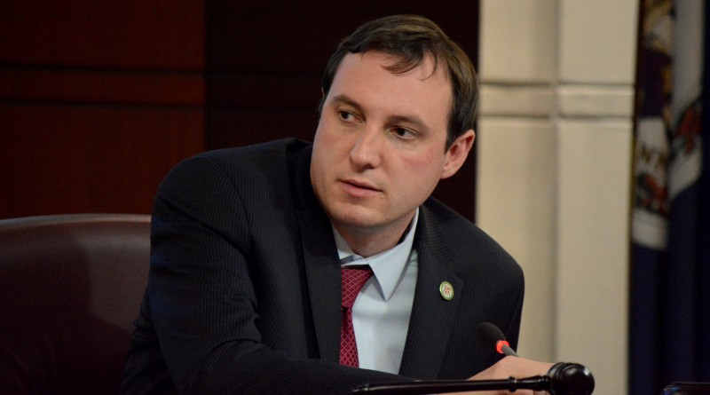 Supervisor Matthew F. Letourneau (R-Dulles) chairs a finance committee meeting. (Renss Greene/Loudoun Now)