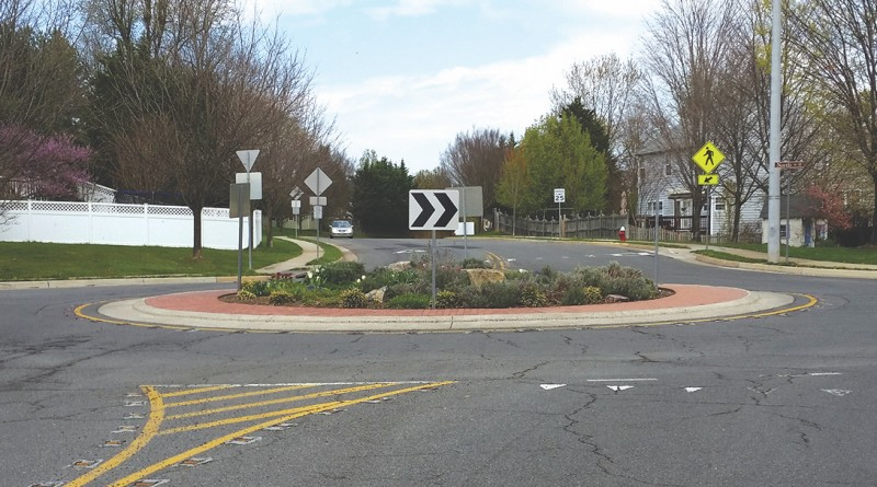 The roundabout at the intersection of Catoctin Circle and North Street was constructed as part of the 10-year, $10 million Lowenbach street improvement project.