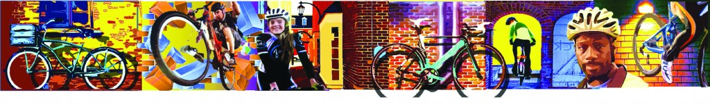 Bike Mural Art by Kevin Dunn