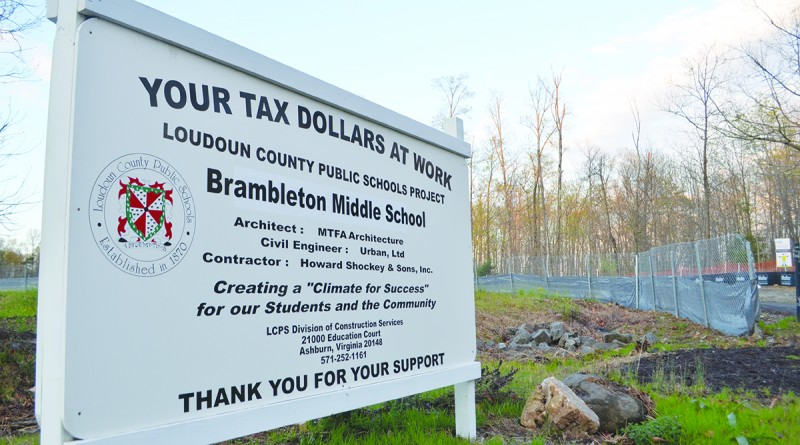 Brambleton Middle School and HS-11 will share a campus on the western side of Brambleton, along Evergreen Mill Road. (Danielle Nadler/Loudoun Now)