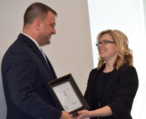 Loudoun County Sheriff's Office Detective Jeff Cichocki was recognized for his work on behalf of crime victims.
