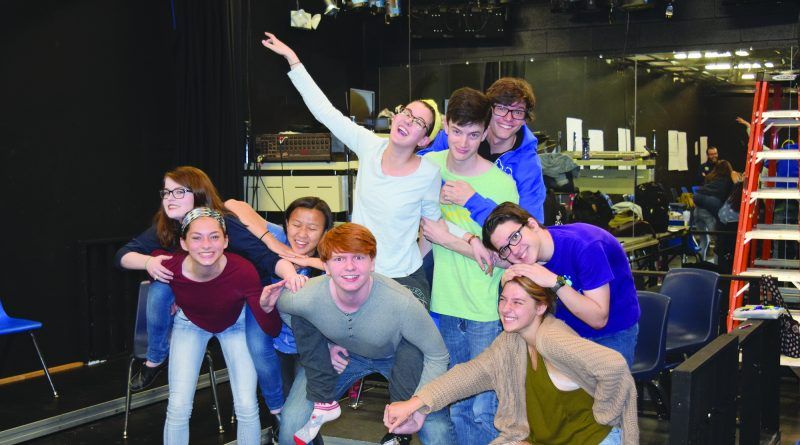 Members of Loudoun County High School improv troupe show their true colors at a recent practice. The group's next performance is 7 p.m. Friday, May 6, at the high school. Tickets are $5.  John McNeilly/Loudoun Now