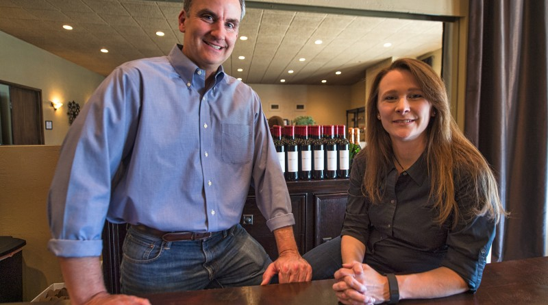Owners Todd Aimee & Henkle pose for a photo at Lost Creek Winery (  (Photo by Douglas Graham/Loudoun Now)