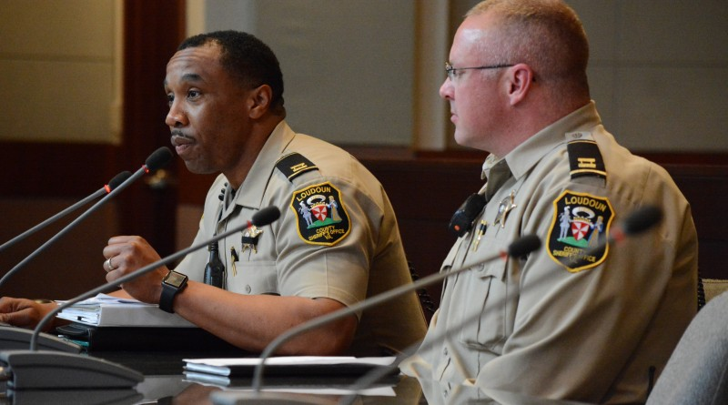 Loudoun County Sheriff's Office Captains Greg Brown and Greg Ahlemann tell supervisors about their noise ordinance headaches.  Renss Greene/Loudoun Now