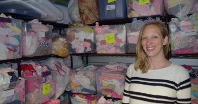 Anna Thorner's nonprofit, It Takes a Village, Baby, has baby items stacked in six storage units. The donations help young families get off to a stronger start.