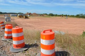 Construction at the Crosstrail development in Leesburg includes a Super Walmart.