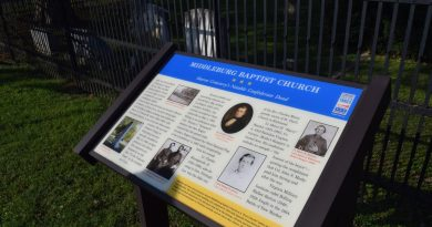Loudoun's latest Civil War Trails marker is located outside Sharon Cemetery.