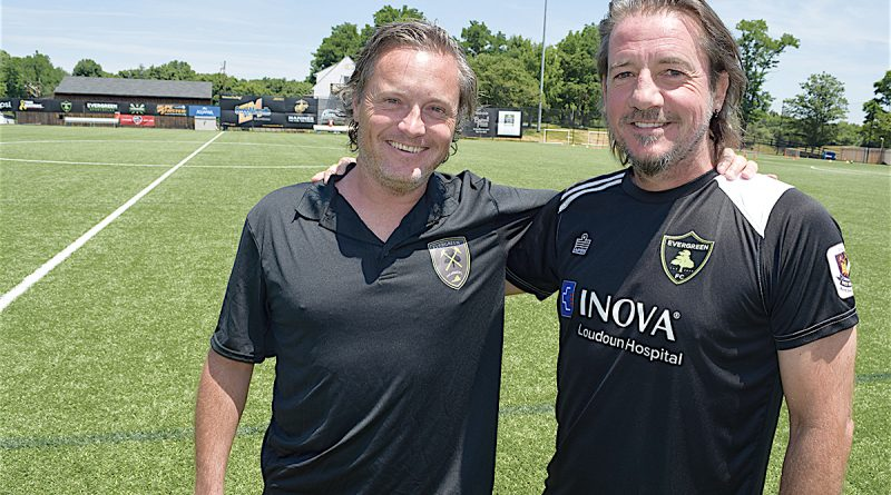 Evergreen FC coaches Ian Bishop, right, and James Meara say youth soccer needs to put player development above trophies.