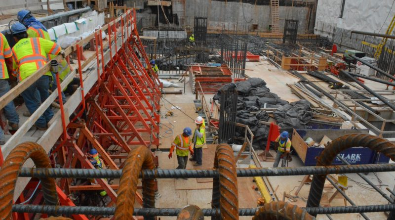 Construction at the Dulles Airport metro station.