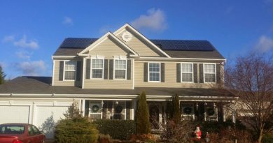 A view of the solar panel array installed on the Purcellville home of Northern Virginia Regional Commission Director of Regional Energy and Sustainability Planning Robert Lazaro, a former town mayor.