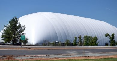 Redskins Training Bubble in Ashburn.