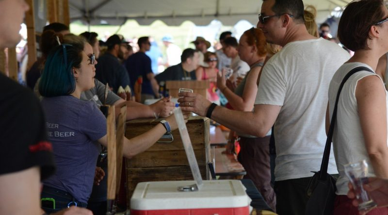 The beer tents stayed crowded with 66 breweries in attendance. (Renss Greene/Loudoun Now)