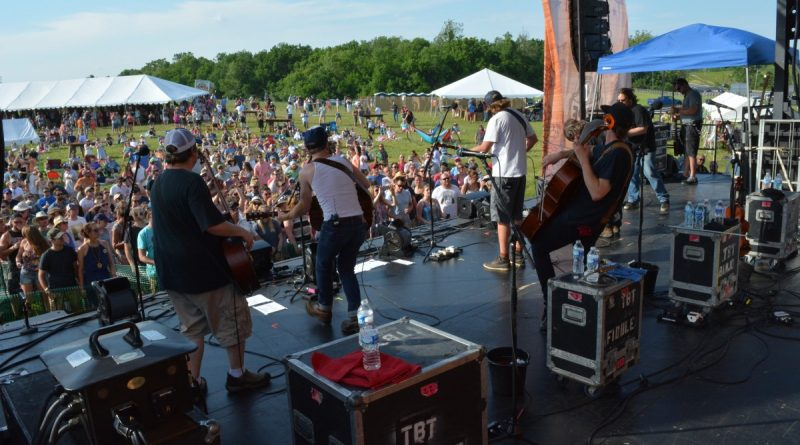 A crowd presses close to the stage to hear Trampled by Turtles. (Renss Greene/Loudoun Now)