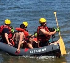 Three boaters are rescued from Brambleton Regional Park LCFR Photo