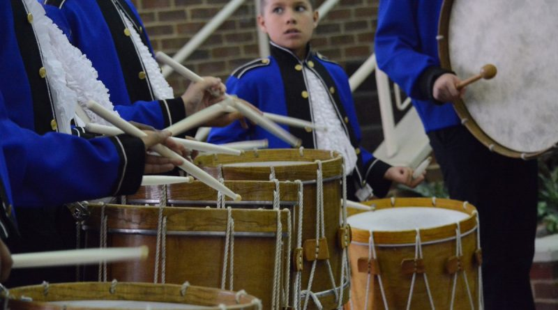 Drums from the Linton Hall School's fife and drum corps. (Renss Greene/Loudoun Now)