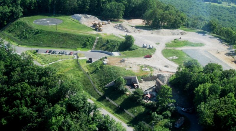 A view of the AT&T property on Short Hill Mountain, as seen from the air on Tuesday, June 7. (Courtesy of Laurie Webb Hailey)
