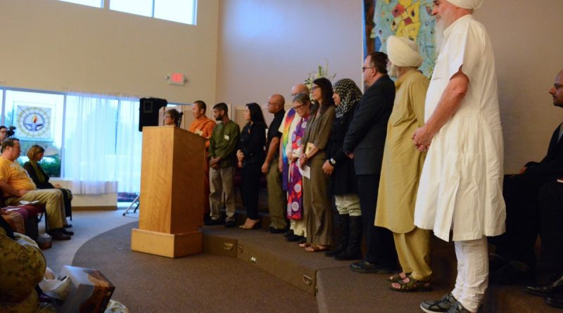 Religious leaders from a variety of faiths lead prayers and share thoughts. (Renss Greene/Loudoun Now)