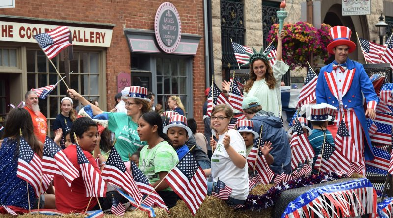 The ROCK crew rocked the American flags during the Leesburg Independence Day parade.