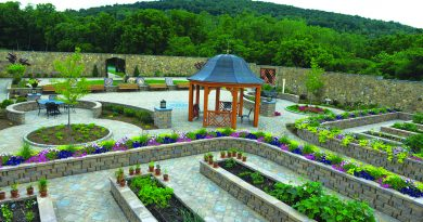 The Wallis Annenberg Heroes Garden is a haven of peace and healing for wounded veterans at Boulder Crest.