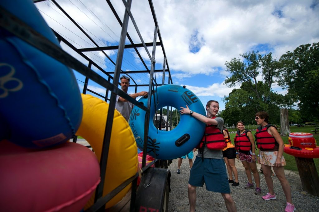Loudoun is not new to the ecotourism boom and has many destinations for folks seeking adventure. Here clients of Harpers Ferry Adventure Center get ready to float down the Shenandoah River.  (Douglas Graham/Loudoun Now)