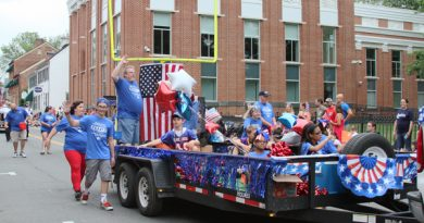 Central Loudoun Youth Football League won the prize for the best entry in Leesburg's Independence Day parade.
