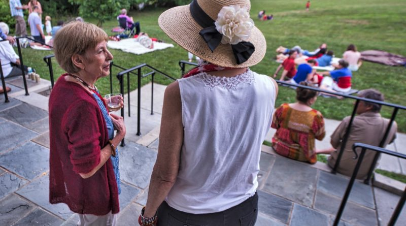 Waterford residents enjoy a cookout on the 3rd of July, which offered better weather in Loudoun than the 4th. (Douglas Graham/Loudoun Now)