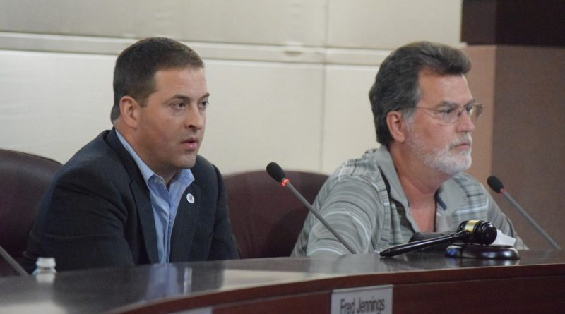 Planning Commission Chairman Jeff Salmon (Dulles) and Vice Chairman Cliff Keirce (Broad Run).  [Renss Greene/Loudoun Now]